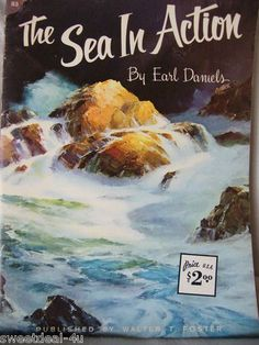 Paintings Of The Sea By 20 Artists Instruction Books & Media Walter T Foster Art Instruction Book Vintag