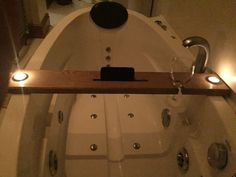 Oak bath tray by BespokeBathTrays on Etsy