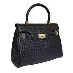 Attavanti - Fontanelli Lisetta Designer Woven Leather Grab Handbag - Black, £375.00 (http://www.attavanti.com/luxury-italian-leather-designer-handbags/fontanelli-lisetta-designer-woven-leather-grab-handbag-black/)