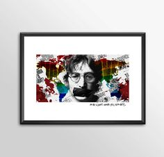 John Lennon What Have You Done - Original Digital Art - PRINTED by ShamanAlternative on Etsy