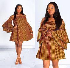 Latest Ankara Dress Styles - Loud In Naija Short African Dresses, Latest African Fashion Dresses, African Print Dresses, African Print Fashion, Africa Fashion, African Prints, Short Dresses, Ankara Fashion, Ankara Maxi Dress