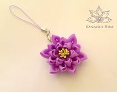 Lotus Kanzashi Phone Strap by Kanzashi-Hime