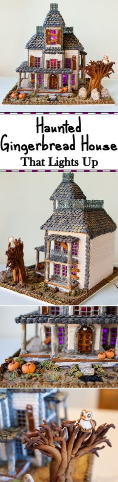 One-of-a-kind Halloween gingerbread house!