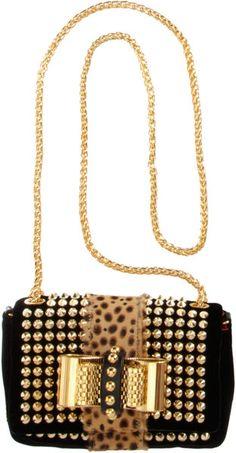 Christian Louboutin Mini Sweet Charity Spikes Bag in Black