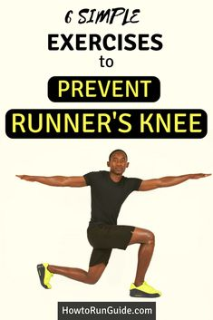 Do your knees bother you while running? Then you may have runner's knee. Learn how to prevent ru Running Training Plan, Running Workouts, Running Tips, Easy Workouts, Running Songs, Triathlon Training, Marathon Training, Runners Knee Pain, Runners Knee Stretches