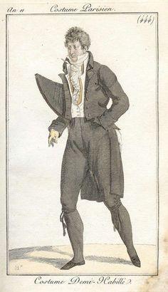 1803 - An 11 Costume Parisien plate 444  Costume Demi-Habille