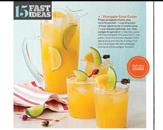Pineapple lime drink