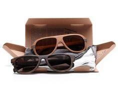 Aviator Tea Wood Sunglasses