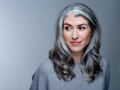 Woman Reveals Why She Let Her Hair Go Grey In Her Thirties | Glamour UK