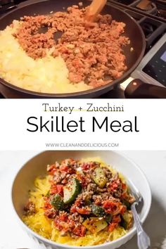 Healthy Ground Turkey, Ground Turkey Recipes, Healthy Gluten Free Recipes, Vegetarian Recipes, Easy Skillet Meals, Clean And Delicious, Chicken Pasta Recipes, Dinner Options, Healthy Dinner Recipes
