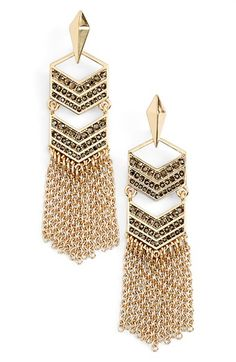 Free shipping and returns on Rebecca Minkoff Tassel Drop Earrings at…