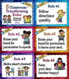 Whole brain teaching class rules posters / D and b trailers