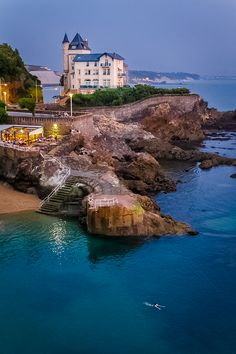 "djferreira224:  ""Night swimming"" ~ by Alexandre Minard Biarritz, France"