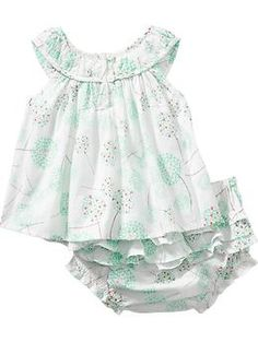 Floral-Print Top and Bloomer Sets for Baby