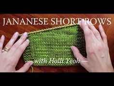 Short Row Shaping: Japanese Short Rows - YouTube