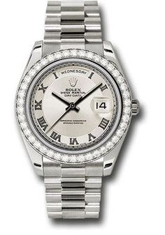 Rolex Watches: Day-Date II President White Gold - Diamond Bezel 218349 icrp