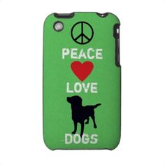 Peace Love Dogs iPhone case/holder. See all products with this design: http://www.zazzle.com/fcacshelter/gifts?cg=196827081624457770=238702617843694115