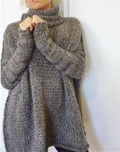 Fashionable fall female loose large size sweater