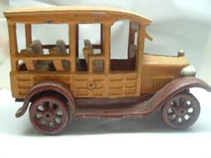 Vintage Cast Iron Car DoorStop Collectible Wheel Replica 1929 Dodge Brothers Car #Unbranded