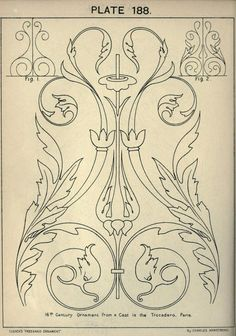 see site for many more - 1895 - Cusack's freehand ornament. A text book with chapters on elements, principles, and methods of freehand drawing, for the general use of teachers and students . by Armstrong, Charles Pattern Art, Pattern Design, Art Nouveau, Motif Arabesque, Ornament Drawing, Jugendstil Design, Elements And Principles, Grisaille, Wall Drawing
