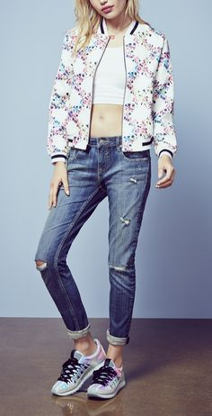 This fabulous floral baseball bomber is going on the wishlist!
