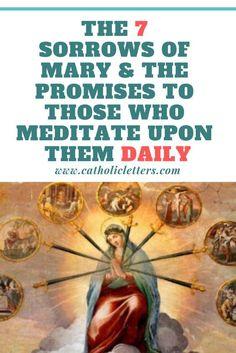 Pinterest Catholic Prayer For Healing, Catholic Prayers, Rosary Catholic, Catholic Answers, Rosary Prayer, Catholic Kids, 7 Sorrows Of Mary, Our Lady Of Sorrows, Prayers To Mary