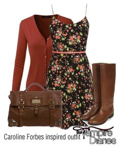 Caroline Forbes inspired outfit/TVD by tvdsarahmichele on Polyvore featuring мода, Topshop and Mulberry