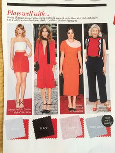 Delpozo, Fashion Colours, Red And Pink, Color Inspiration, Color Combinations, Hue, Color Blocking, Poppies, What To Wear
