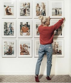 Ikea Frames, Frames On Wall, Ikea Photo Frames, Piece A Vivre, My New Room, Home Renovation, Home Decor Inspiration, Wall Art Decor, Photo Wall Decor
