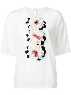 Shop Dolce & Gabbana floral appliqué top.