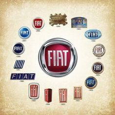 Fiat Automobiles - Founded : July Founder: Giovanni Agnelli. The largest automobile manufacturer in Italy Fiat 128, Fiat Cinquecento, Fiat 500c, Fiat Abarth, Fiat Panda, Car Badges, Car Logos, Maserati, Ferrari F40