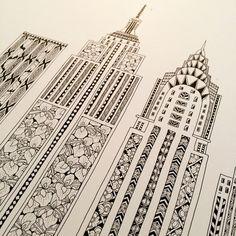New York City Fair — Yoko Furusho Illustration New York Taxi, New York City, City Drawing, Nyc Art, Tangle Patterns, Sketch Painting, Display Design, Yoko, Diy Arts And Crafts