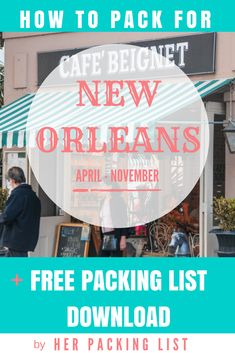 Heading to the Big Easy? This New Orleans packing list will take the guesswork out of packing. PLUS, you get a free downloadable checklist!