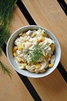 Sałatki na imprezę - 12 sprawdzonych i łatwych przepisów Pasta Salad, Holiday Recipes, Salads, Food And Drink, Curry, Chicken, Ethnic Recipes, Blog, Impreza