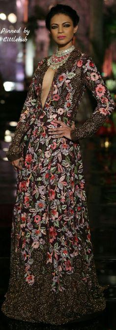 Pinterest: @Littlehub  || คdamant love on Anarkali's ✿。。ღ  || Manish Malhotra Anarkali - The Persian Story Collection 2016