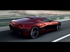 Rimac - Electric Concept One Super Car 1088hp 0-100 in 2.8 seconds 370 miles on charge less than an hour to fully recharge