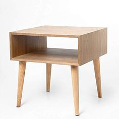 Corner Table, Cabinet Storage, Bedside Tables, Living Room Sofa, Scandinavian Style, 2 Colours, Solid Wood, Bedroom, Box