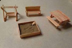 Popsicle Stick Furniture  by Butterfly029.deviantart.com on @DeviantArt