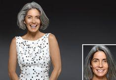 Oprah Magazine Grey Hair Transformations