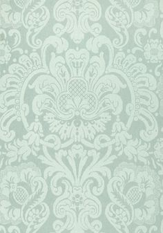 Dorian damask, aqua, collection damask resource 4 from thibaut damask wallpaper, Victorian Wallpaper, Damask Wallpaper, Designer Wallpaper, Embossed Wallpaper, Vintage Garden Parties, Living At Home, Living Room, Traditional Decor, Scrapbook Paper