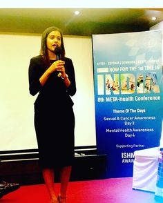 Leena Lal speaks from he heart about bi-polarity and mental health at#metahealth #conference at#india #mumbai .