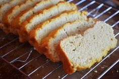 This is a low-carb, grain-free, ketogenic bread recipe that tastes amazing. Try making our coconut flour bread - Keto, nut butter Wheat Free Recipes, Low Carb Recipes, Bread Recipes, Real Food Recipes, Cooking Recipes, Yummy Recipes, Coconut Flour Bread, Baking With Coconut Flour, Coconut Oil