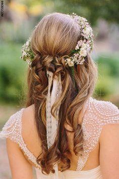 Dainty flower crown hair piece