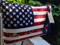 Prim Patriotic Flag Pillow Tuck Americana Decor July by MrsVsPrims, $17.49