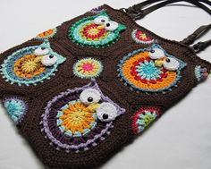 free tapestry crochet purse patterns | Owl Toteem by Marken | Crocheting Pattern