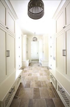 Mud room - Benjamin Moore Timid White