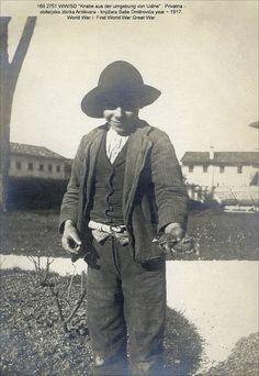 Italy year 1917 Udine 1^ First World War Great War Boy and Birds    #TuscanyAgriturismoGiratola