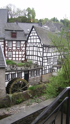 Monschau, NRW Germany.  Go to www.YourTravelVideos.com or just click on photo for home videos and much more on sites like this.