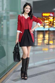 Korean Blazer Jacket 2014 Fall YRB0281