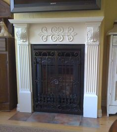 Want a big white mantle fire place